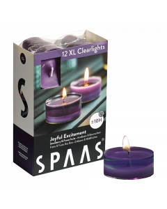 12 maxi Clearlights 10u - Joyful excitement - Geurkaars - SPAAS