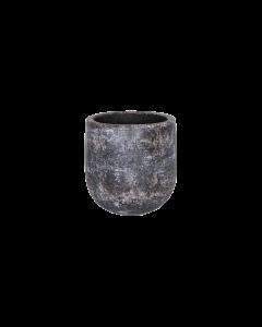 Bloempot Amber earth keramiek d15 h15 - Bruin