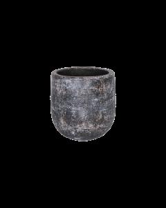 Bloempot Amber earth keramiek d18 h18 - Bruin