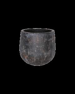 Bloempot Amber earth keramiek d20 h19 - Bruin