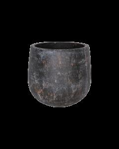 Bloempot Amber earth keramiek d22 h22 - Bruin