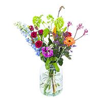 Assortiment bloemen en boeketten